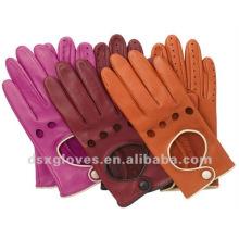 2014 nuevos guantes de conducción del cuero de la manera del estilo