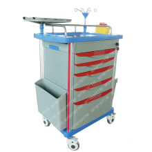 PVC Material Easy Cleaning China Emergency Hospital Instrument Trolley