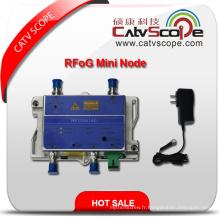 Fournisseur professionnel Haute performance CATV FTTH Récepteur fibre optique bidirectionnel Rfog Mini Node