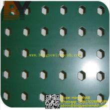 Mailles métalliques perforées en aluminium revêtues de poudre