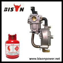 BISON(CHINA) 190F Dual Fuel Carburetor With Auto Choke LPG NG Propane Conversion Kit For Gasoline Generator Hybrid 6KW 6000W