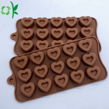 Moldes de sabonete de silicone com formato de coração personalizados