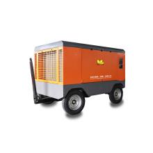 10 Bar Diesel Mobile Screw Air Compressor For Drilling Rig Diesel Air Compressor Mini Air Compressor