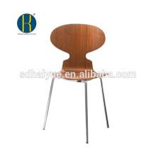 2017 ресторан мебель типа из орехового дерева столовая стул со спинкой и хромированными ножками