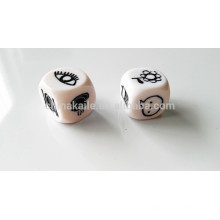 2.5CM Plastic Custom Carved Dice