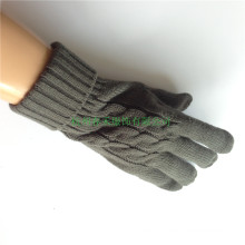 Grey Jacquard Knitted Five Finger Gloves Factory