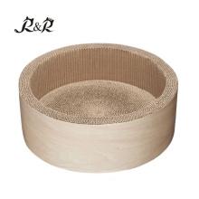 Großhandelskleines Haustier liefert Bett weiches warmes rundes Krapfenbettbett RCS-8015