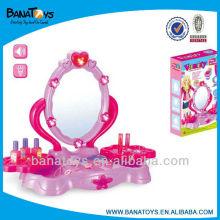 Aparador de belleza de juguete rosa para niña con juguetes de niñas de luz y sonido