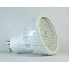 Alto lúmenes 120degree GU10 6W SMD LED proyector con cubierta