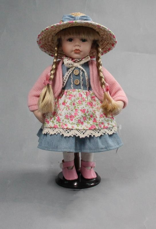 Country style porcelain dolls