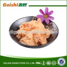 deliciosa comida saudável chinesa congelada salada madura de lagostins