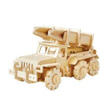 Boutique Veículos de brinquedo de madeira incolor - Caminhão de mísseis