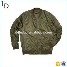 Chaqueta de bombardero de los hombres de la chaqueta del equipo universitario del top liso de nylon al por mayor en China