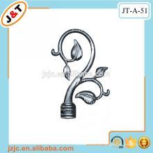 Bad Duschvorhang Stange Set mit dekorativen Metall Blume Finials