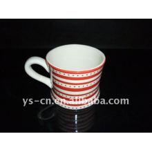 stoneware hand paint mug