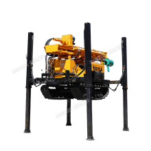 Underground mining used borehole water well drilling rig popular model HQZ220L rock drilling rigs for sale