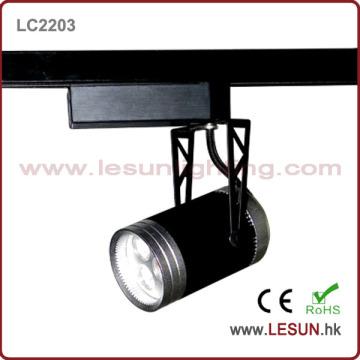 3*1W Black LED Track Light for Commercial Lighting (LC2203)