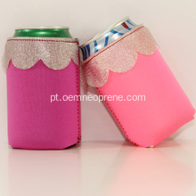Presentes de casamento Lace Design Neoprene Can Holder Koozie