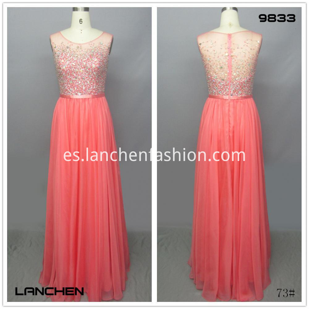 Coral Color Long dress
