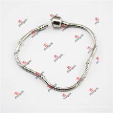 Fábrica de latão Snake Chain / Bead Pulseira Pulseira cadeia de jóias (DLL60226)