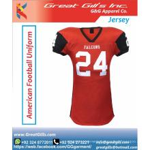 latest designs sublimated custom american football jersey