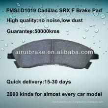 D1019 Pastilla de freno para Cadillac SRX 2004-2009 F