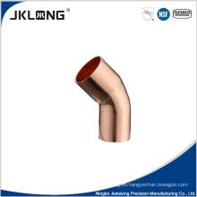 Piezas de aire acondicionado cobre 45 deg reducción codo