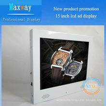 Fashion white 15 inch 4:3 advertising display screen