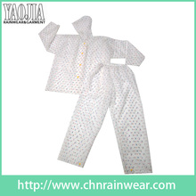 Yj-6092 Printed Raincoat Womens Cycling Running Hood Jacket avec capuche