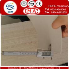 Черный мембрану HDPE в рулонах для герметизирующей прокладкой
