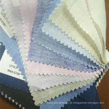 Faixa lisa e xadrez 100 tecido de linho para a camisa em estoque