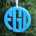 Warna Acrylic Circle Christmas Ornament Monogram Acrylic