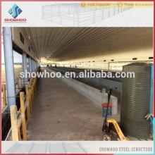 Showhoo construction en acier à faible coût conception de construction de volaille à vendre