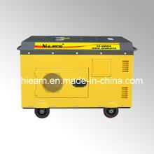 Ensemble de générateur diesel à deux cylindres en silencieux couleur jaune (DG15000SE)