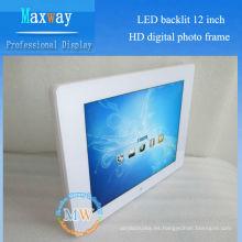 Marco de fotos digital retroiluminado LED de 12 pulgadas HD