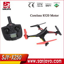 New XK Alien X250 2.4G 4CH 6 axis RC Quadcopter Compatible rc helicopter RED WITH BLACK Headless M coreless motor SJY-X250