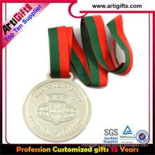 Metal plated sliver medal strap