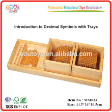 montessori material toys Introduction to Decimal Symbols with Trays