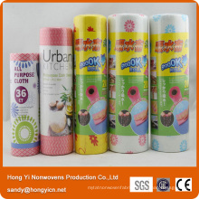 Nonwoven Fabric Kitchen Cleaning Cloth, 80%Viscose and 20% Polyester