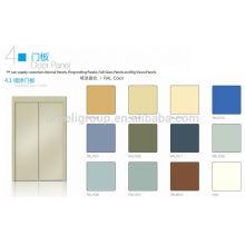 Panel de la puerta de la cabina del elevador pintado