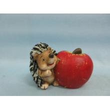 Apple Hedgehog forma cerâmica artesanato (LOE2536-C9.5)