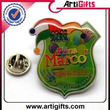 Vente chaude personnalisé logo imprimé en métal badges yoyo