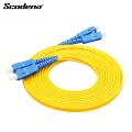 Fornecimento de fábrica SC-SC Ethernet de modo único cabo patch de fibra óptica de dois núcleos