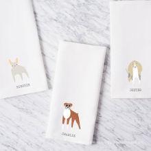 высокое качество печать щенок собака белая простая квадратная кухня кухонное полотенце ТТ-014