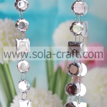 Round & Square Clear Crystal Bead Garland Curtain For Partition Entranceway Home Decoration Crystal Curtains Glass Bead Curtai