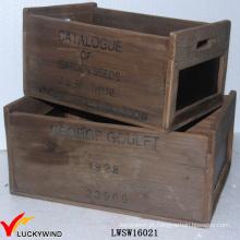 Rual Área Reciclado Abeto Antique Box Madeira Blackboard