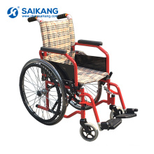 SKE-B2 Detachable Aluminum Foldable Manual Wheel Chair For Sale