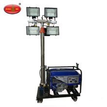 Gasoline mobile lighting tower mobile lighting car