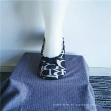 Calcetines de zapatillas de moda para pisos estampados de suela blanda interior