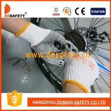 Bleach Knit Cotton/Polyester String PVC Dots Working Gloves Dkp112